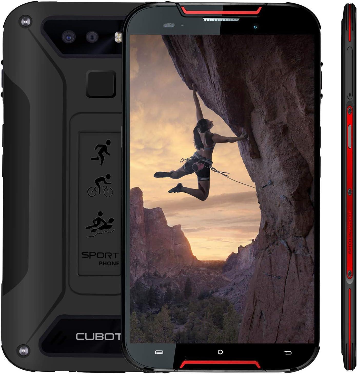 CUBOT Quest Lite 2019 IP68 Móvil Libre Impermeable Android9.0 Dual 4G SIM Quad Core Procesador Face ID Huellas dectilares Smartphone 5