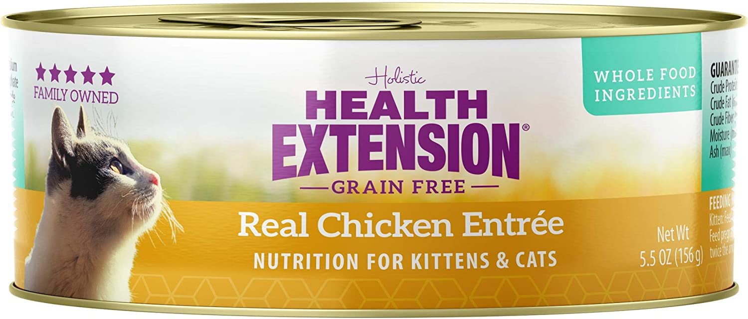 Health Extension Grain Free Chicken Entree Canned Wet Cat Food - (24) 5.5 Oz Cans