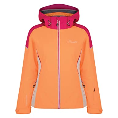 b420531eab Dare2b Womens Ladies Contrive Jacket (US Size 4) (Orange Blast Pink