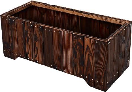 Outsunny 37 5 X15 X15 75 Wooden Garden Flower Bed Outdoor Planter Rectangule Box Elevated Vegetable Planter Kit Box Grow For Patio Deck Balcony Outdoor Gardening Amazon Ca Patio Lawn Garden
