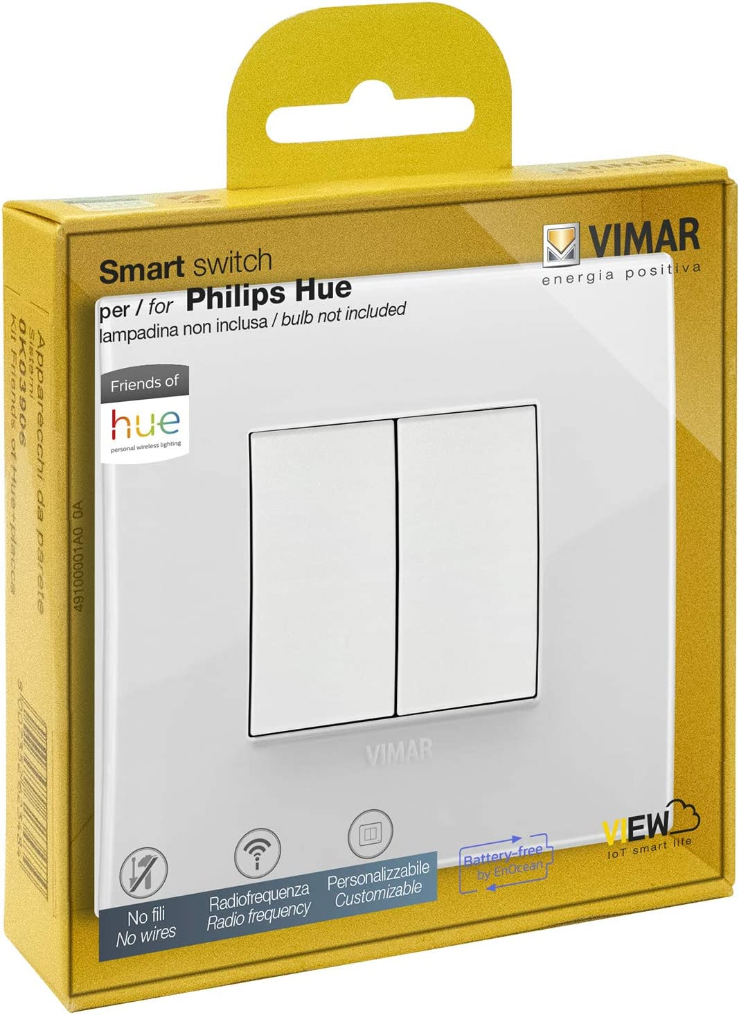 VIMAR 0K03906.05 Arké Classic Kit Interrupteur sans Fil en radiofréquence Philips Friends...