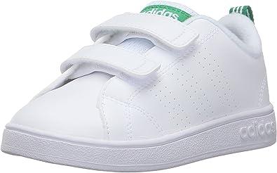 adidas NEO Boys' VS Advantage Clean CMF Inf Sneaker, White