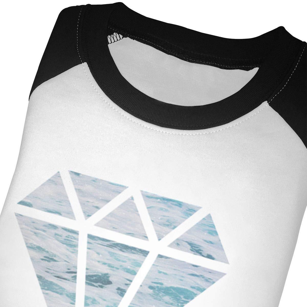 Sea of Diamond Kids Jersey Raglan T-Shirt Children 3//4 Sleeve Baseball Shirt Top
