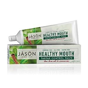 JASON Healthy Mouth Tartar Control Fluoride-Free Toothpaste, 4.2 Ounce Tube