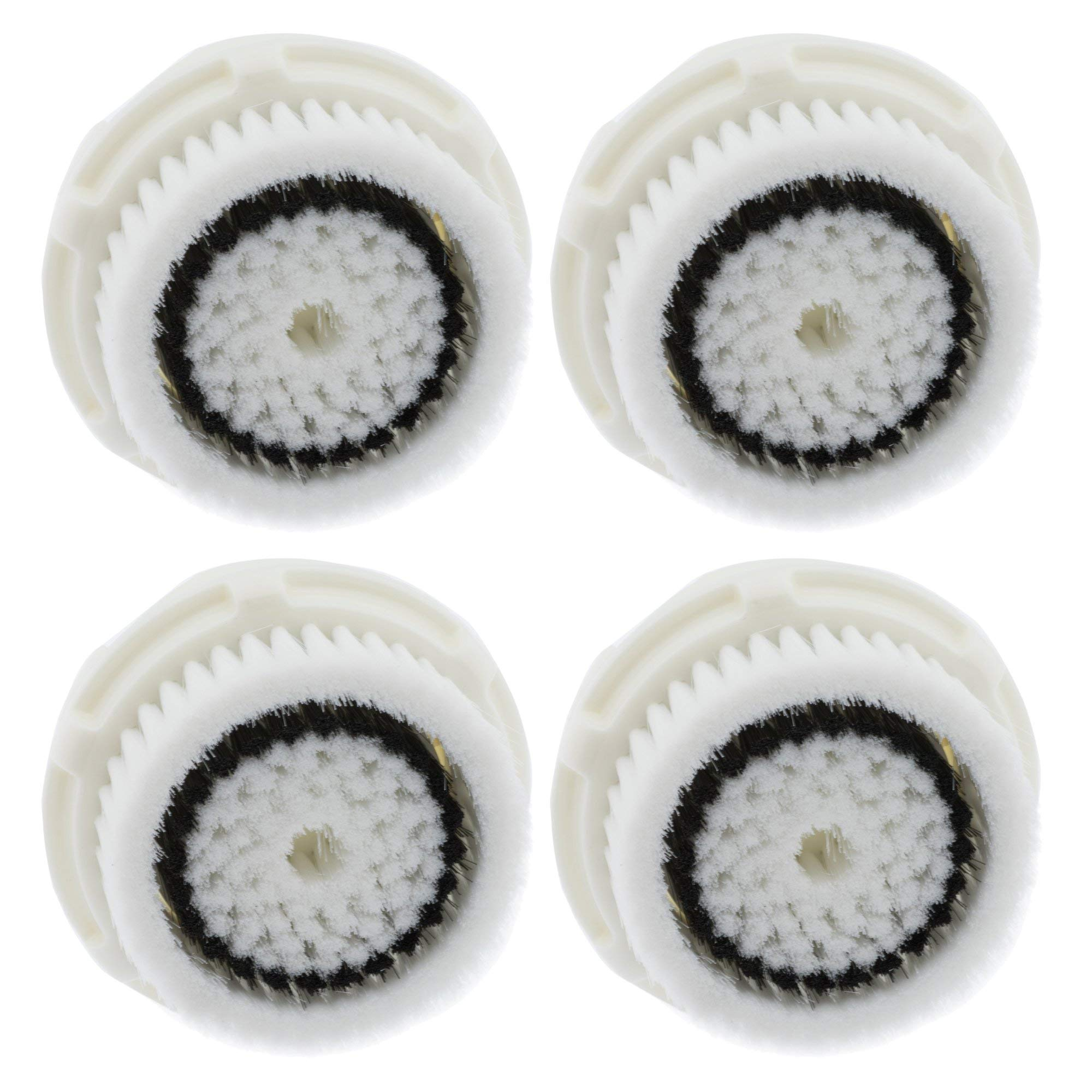 4 Pack Replacement Sensitive Brush Head,Compatible Facial Cleaning Brush Heads for Mia Mia2 Mia3 Aria Mia Fit Smart Profile and Alpha Fit