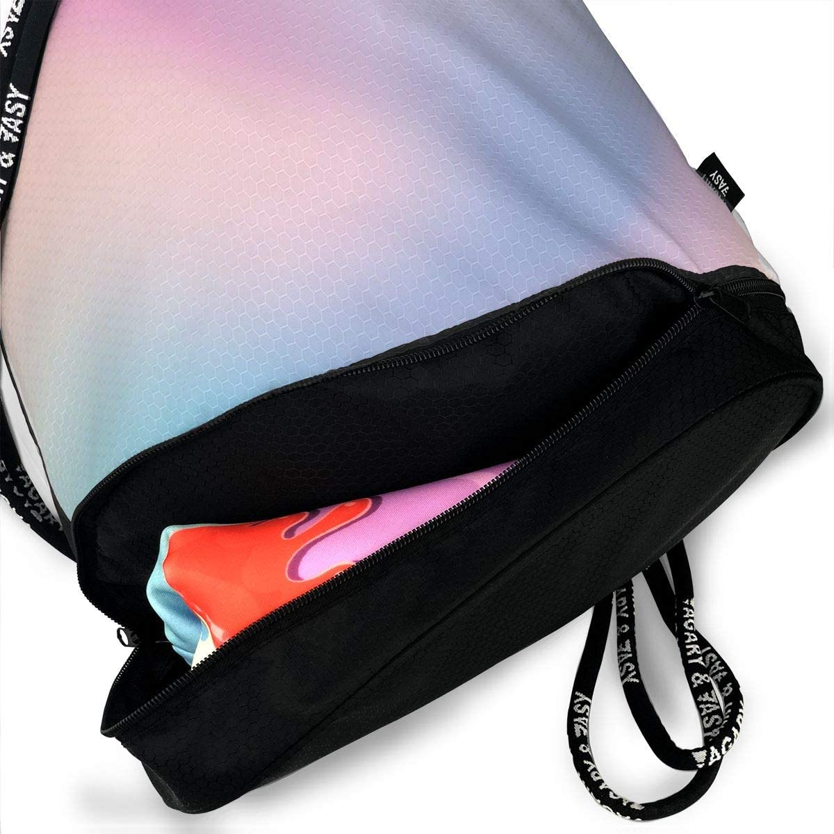 Seuriamin Abstract Blurry Colors Composition Sweet Daydream Fantasy Bundle Mouth Pocket Bag