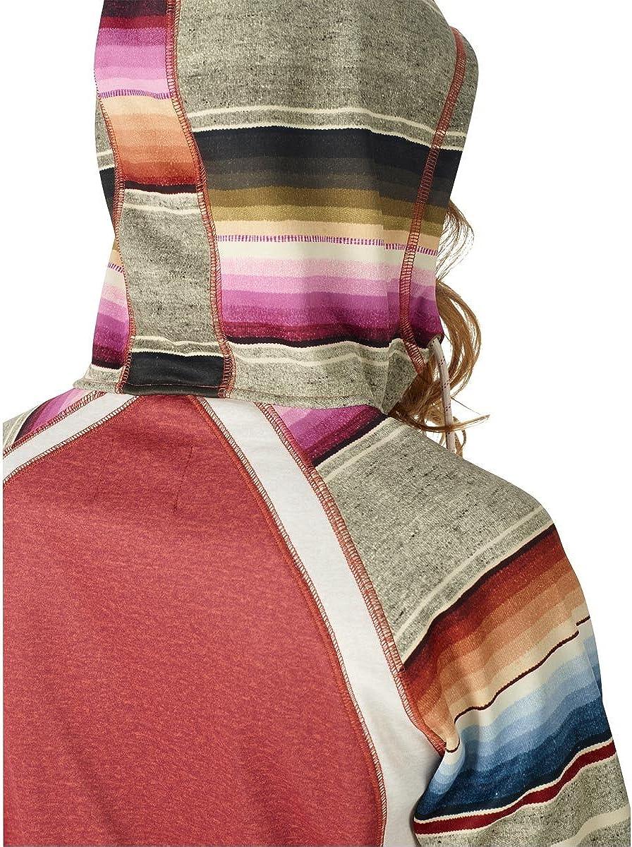 Burton Womens Scoop Hoodie Bonded Fleece Size Medium Sparrow Heather//Mija Stripe