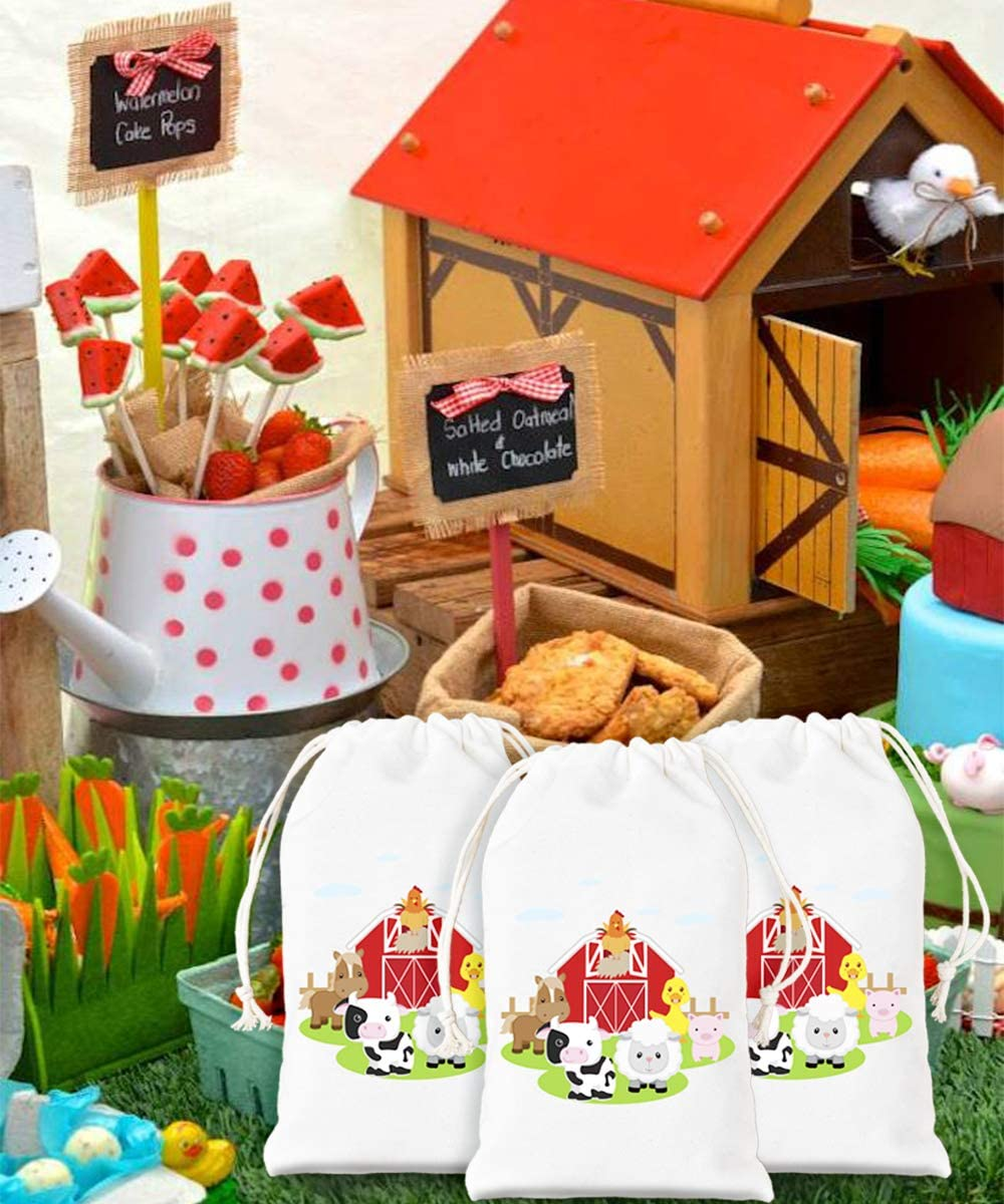 Farm Yard Animals Party Loot Plastic Bags Goodie Favour Cake Sweets Toys