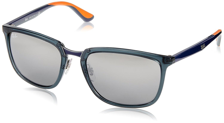 0691ab5488c Amazon.com  Ray-Ban Men s 0rb4303 Polarized Rectangular Sunglasses BLACK  57.1 mm  Clothing