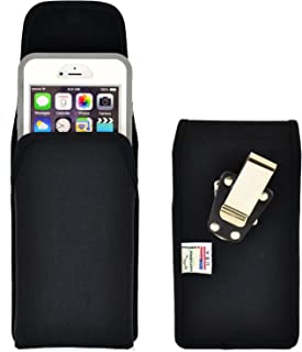 product image for Turtleback Belt Clip Case Compatible with Apple iPhone 6 Plus, iPhone 6S Plus w/OB Defender case Black Vertical Holster Nylon Pouch with Heavy Duty Rotating Belt Clip Made in USA