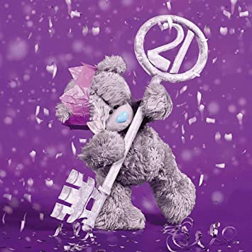 Me To You Tatty Teddy 3d Holographic Card 21st Birthday Card Amazon