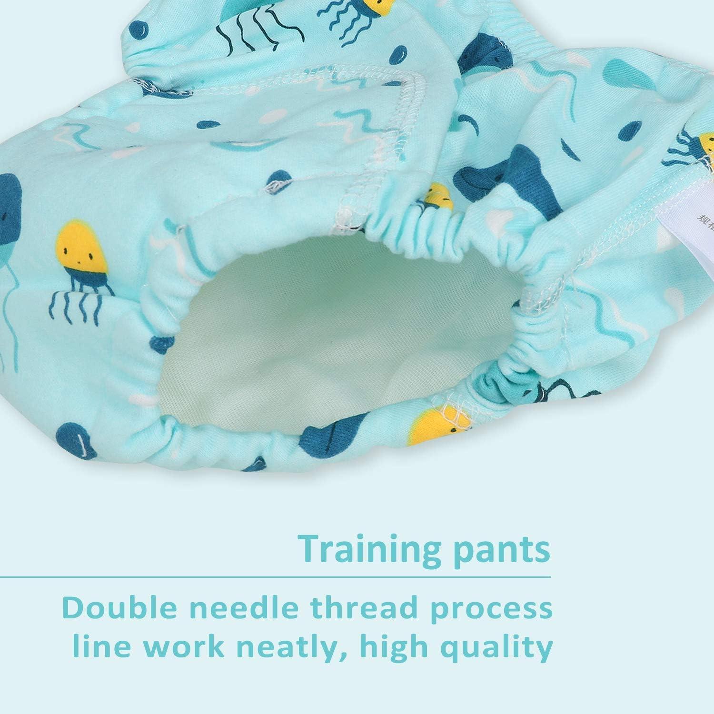 Flyish Packungen mit 4 Kinder T/öpfchen Hose Baby absorbierende Training Unterw/äsche Kind WC Training Unterw/äsche Baumwolle weich Kleinkinder Trainingshose Gr/ö/ße 12M-3 Jahre