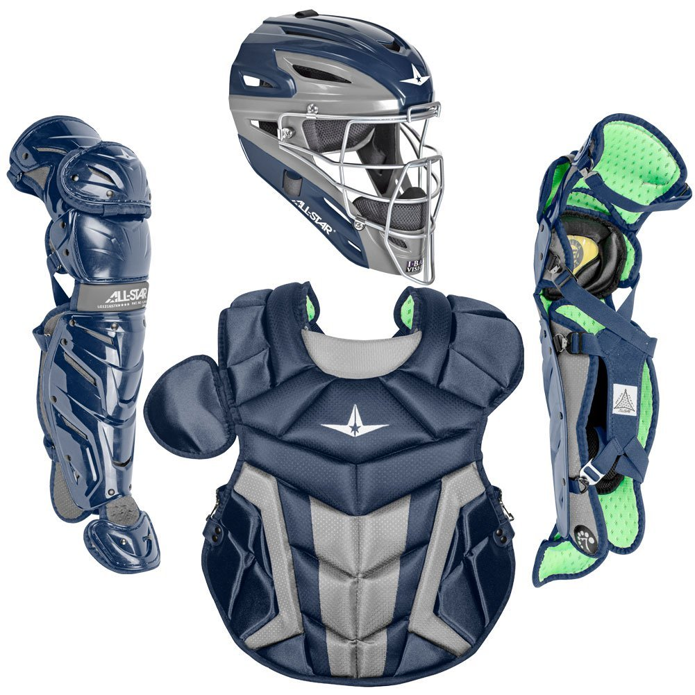 a42a0f80f94f Amazon.com   System7 All-Star Axis CK1216S7X Intermediate Catchers Gear Set  (Black)   Sports   Outdoors