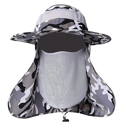 607cb678e42 ELK Summer Outdoor Sun Protection Fishing Cap Neck Face Flap Hat Wide Brim  Shade