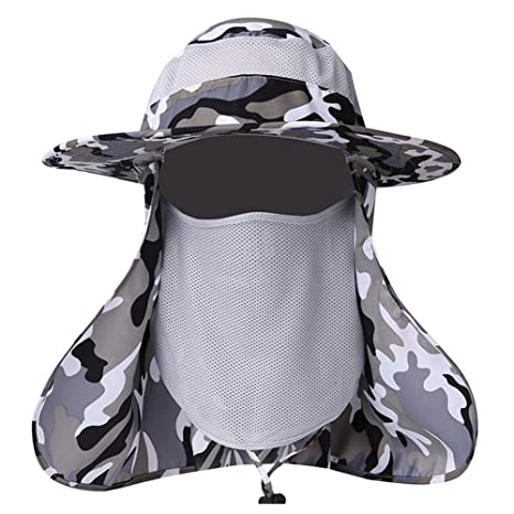 d8594d8f971 ELK Summer Outdoor Sun Protection Fishing Cap Neck Face Flap Hat Wide Brim  Shade
