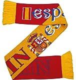 Espana Bufanda de punto de fútbol España Jersey - Rojo y amarillo