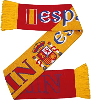 Espana Espagne Echarpe en Jersey de Football - Rouge et Jaune