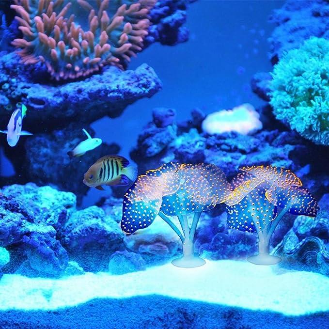 UEETEK Luminoso Falso Coral Pecera Acuario Decoración Submarino ...