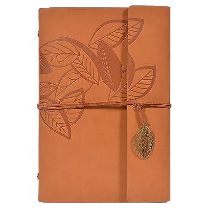 TankerStreet Vintage Cuaderno de Cuero PU Cover Diario ...