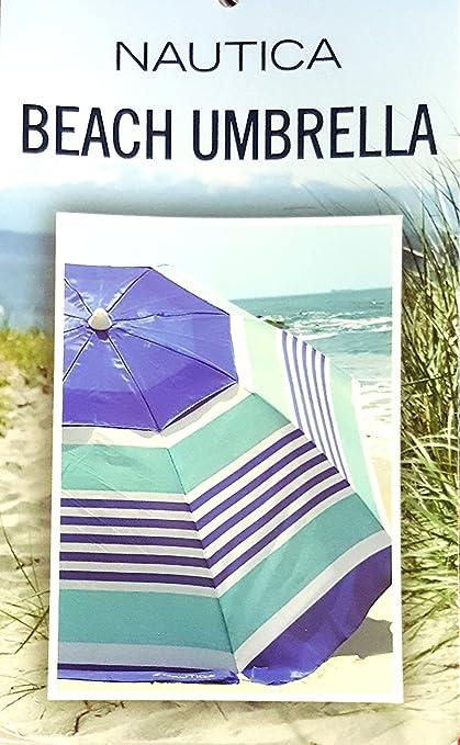 Amazon.com: Nautica - Sombrilla de playa de 7 pies: Jardín y ...