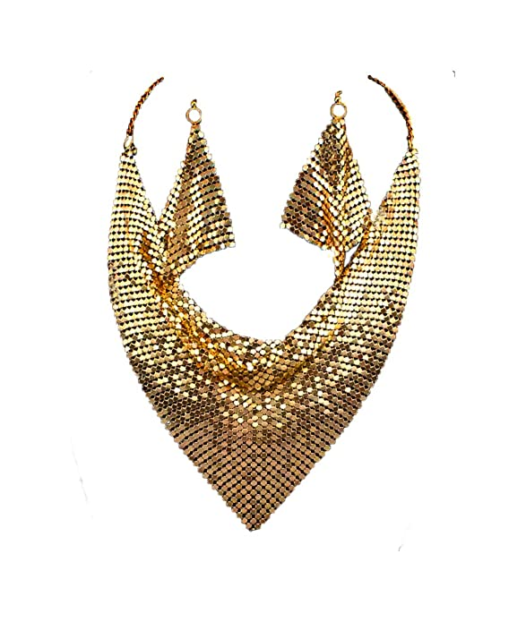 Vintage Style Jewelry, Retro Jewelry Metal Mesh Scarf Necklace $13.99 AT vintagedancer.com
