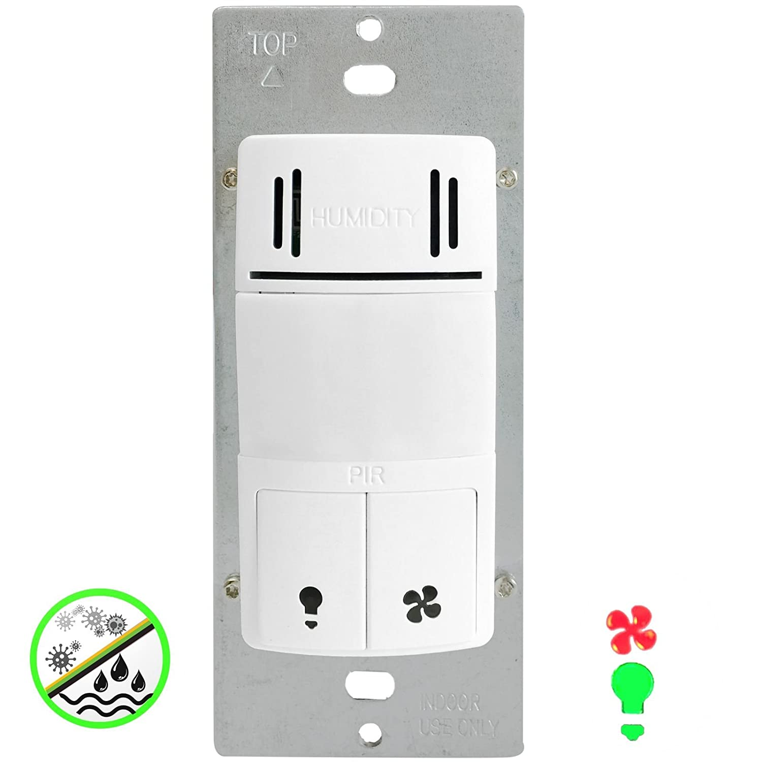 Wiring Bathroom Fan And Light Separately: Humidity Control Switch By Enerlites 2-in-1 Humidity