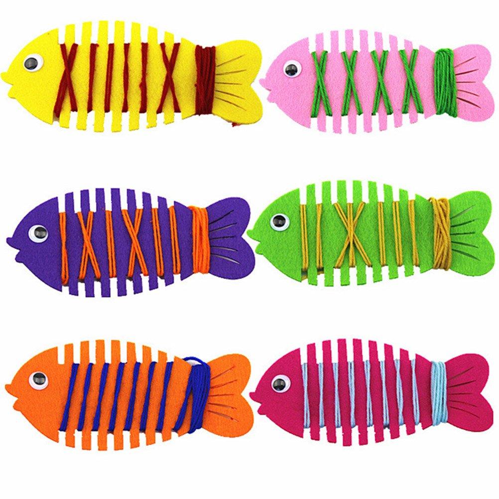 TOYMYTOY Infilare Pesce Gioco Giocattoli Educativi per Bambini Apprendimento Precoce 6 Pezzi