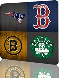 12x12 Inch Tin Sign Boston Sports Fan Recycled Vintage Massachusetts License Plate Art Patriots Red Sox Bruins Celtics Retro Vintage Metal Tin Sign Wall Plaque Retro Vintage Wall Decoration