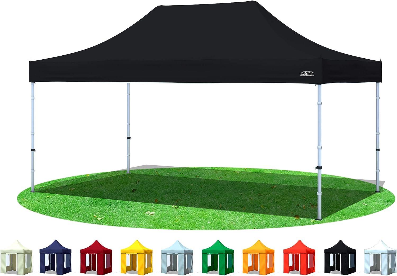 Plegable tienda Cenador plegable de 3 x 4, 5 m 4, 5 x 3 m negro Pabellón (venta tienda impermeable: Amazon.es: Jardín