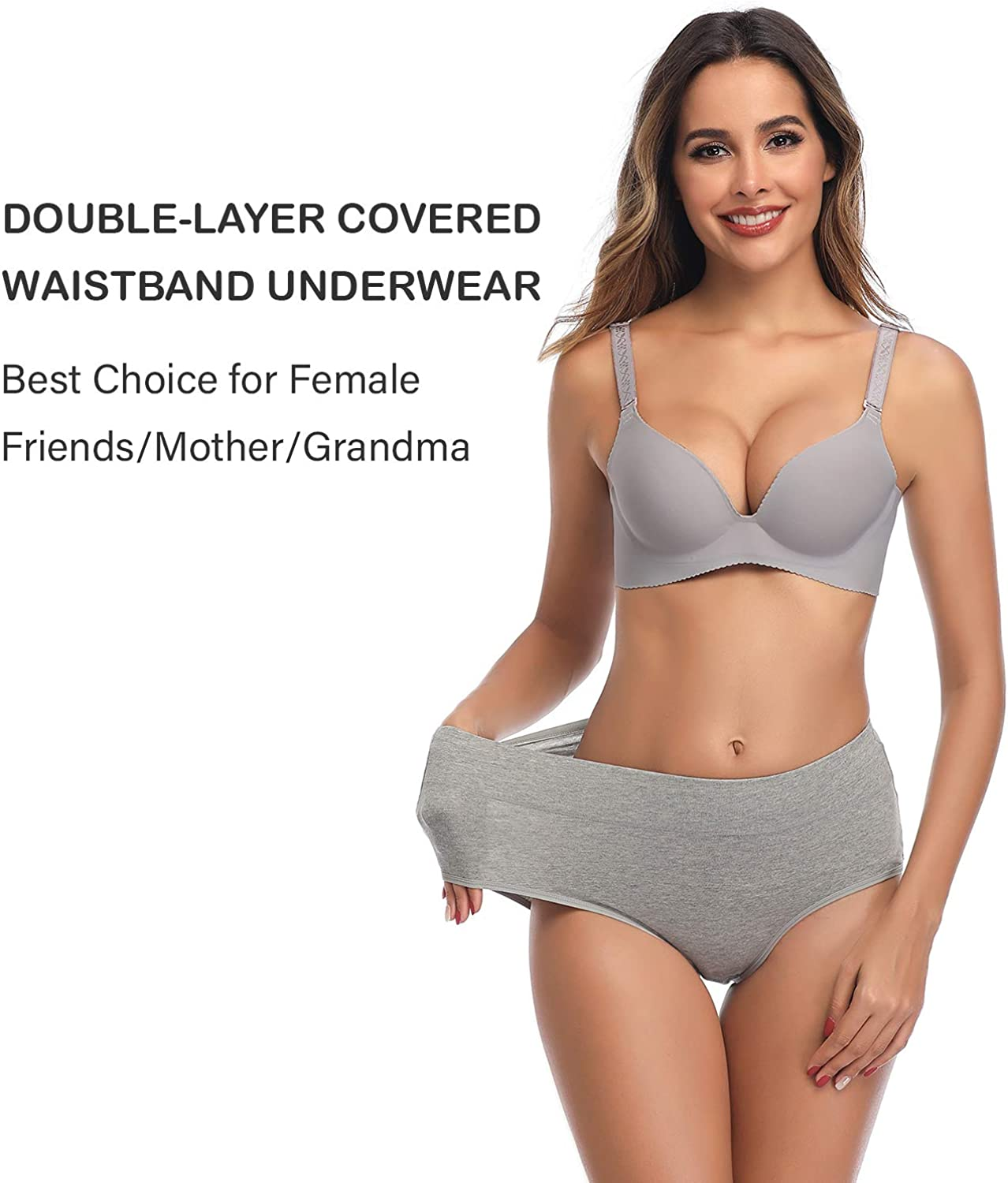 Womens Underwear, No Muffin Top Full Coverage Cotton Underwear Briefs Soft Stretch Breathable Ladies Panties for Women at  Women's Clothing store