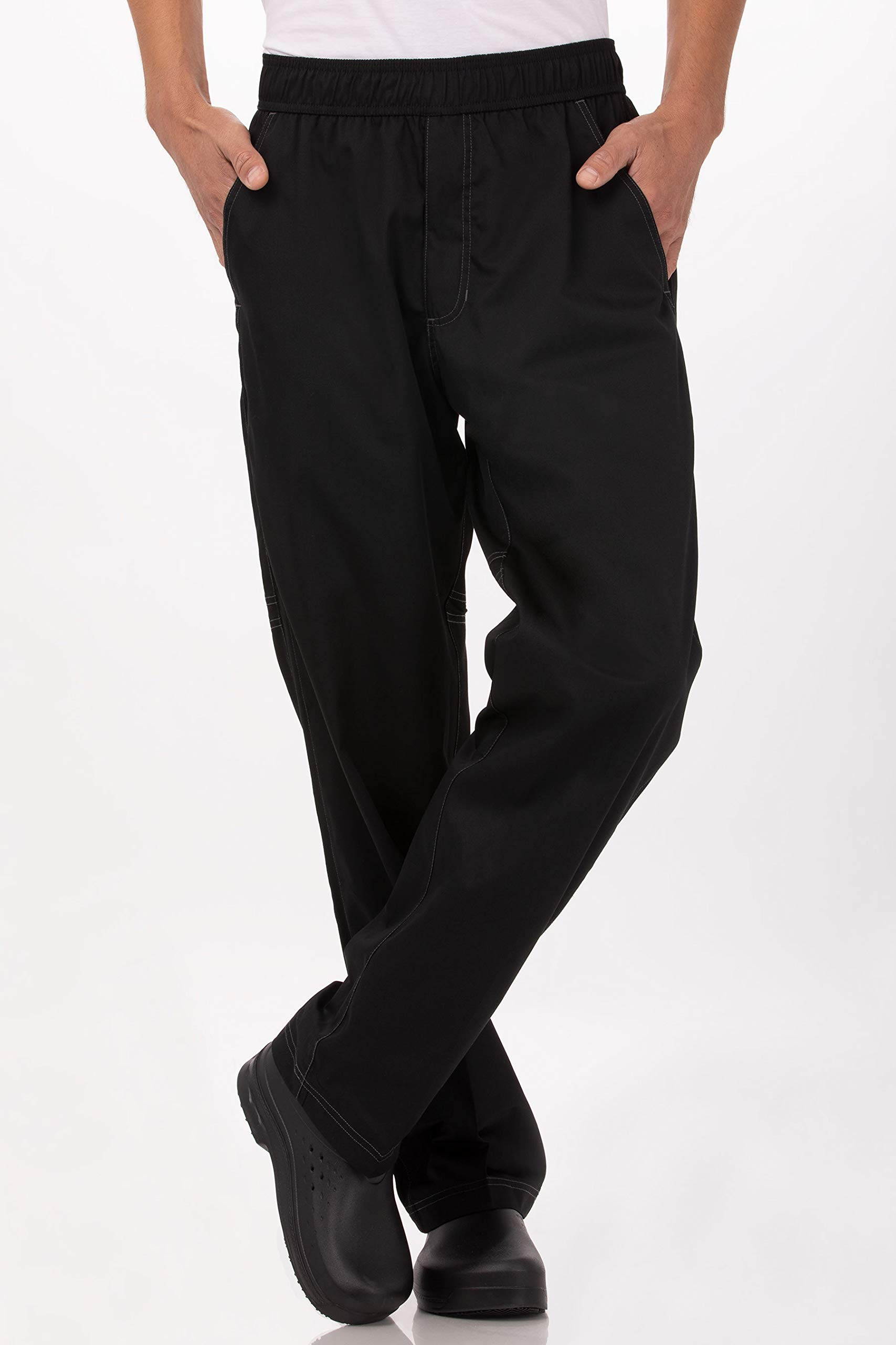 Chef Works Men's Cool Vent Baggy Chef Pants, Black, 3X-Large by Chef Works