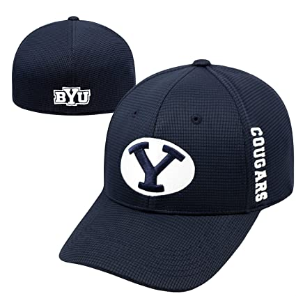 timeless design b7c70 7cfcd Image Unavailable. Image not available for. Color  Top of the World Byu  Cougars Official NCAA One Fit Booster Plus Hat Cap ...