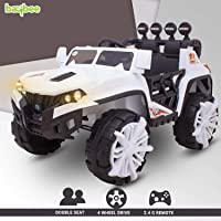 Baybee Beetle Dune Baby Toy Car Rechargeable Battery Operated Ride on car for Kids/Baby with R/C Jeep Children Car Electric Motor Car Kids Cars,Baby Racing Car for Boys & Girls (White)