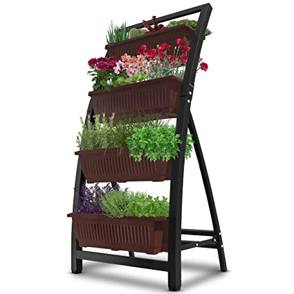 6 Ft Raised Garden Bed   Vertical Garden Freestanding Elevated Planter With  4 Container Boxes