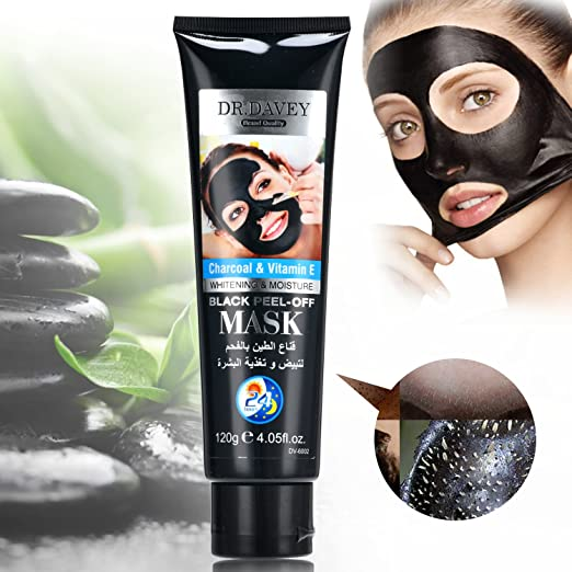 DR. DAVEY Bamboo Charcoal Black Mask Blackhead Remover Homemade Face Mask