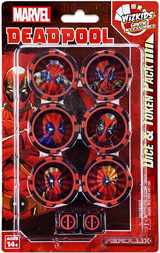WizKids Marvel HeroClix: Deadpool Dice and Token Pack: Amazon.es: Juguetes y juegos