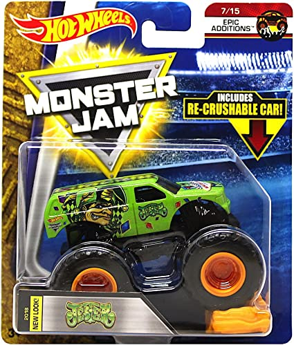Amazon Com 2018 Hot Wheels Monster Jam Epic Additions 7 15 Jester Includes Re Crushable Car Toys Games
