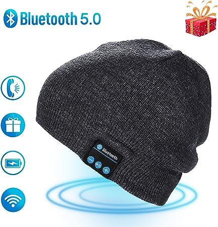 puersit Unisex Bluetooth Beanie Hat Inalámbrico Auricular Gorro ...