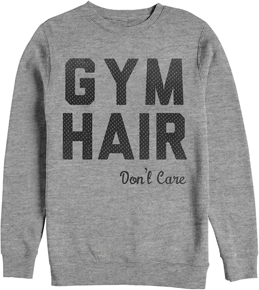 Chin Up Women's Athletic Gym Hair Don't Care Sweatshirt