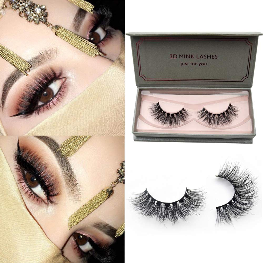 0c34027684c Visofree Lashes 3D Mink Lashes High Volume Handmade Reusable Eyelashes/False  Eyelashes/Mink Eyelashes
