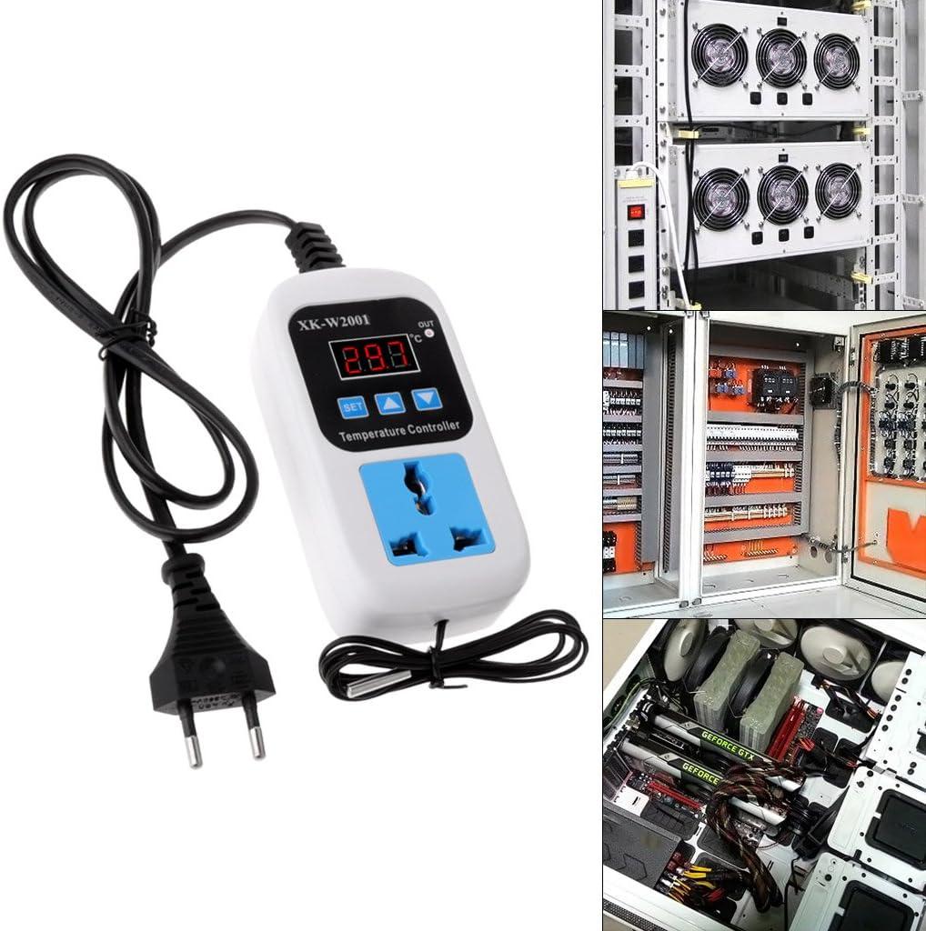 siwetg Thermostat num/érique 220 V avec Prise 50~110 C Interrupteur Contr/ôleur de temp/érature AC110