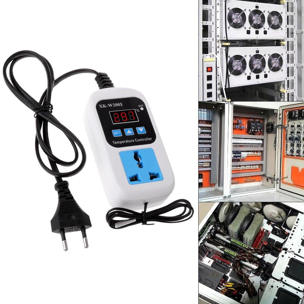 Termostato digital -50~110 C, regulador de temperatura, interruptor, 110-220 V, con enchufe Basik