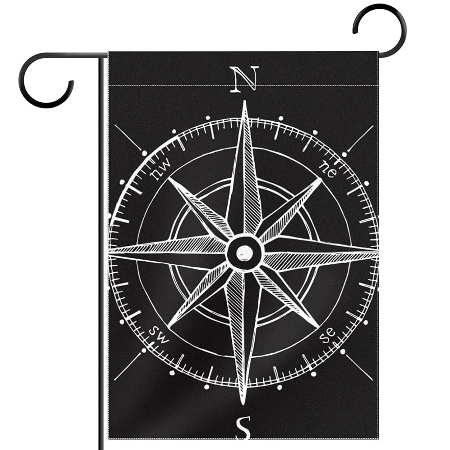 28x40in Double Sided Welcome Garden FlagOutdoor Yard Decoration Flag,Rose Compass