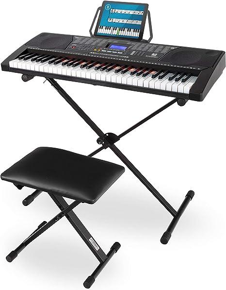 McGrey LK de 6150 61 teclas Juego de teclado (Teclado para principiantes con 61 teclas Bombilla, 255 sonidos y 255 ritmos, reproductor de mp3 ...