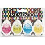 Tsukineko 4-Pack Assortment Memento Dew Drops Fade-Resistant Ink, Beach Party
