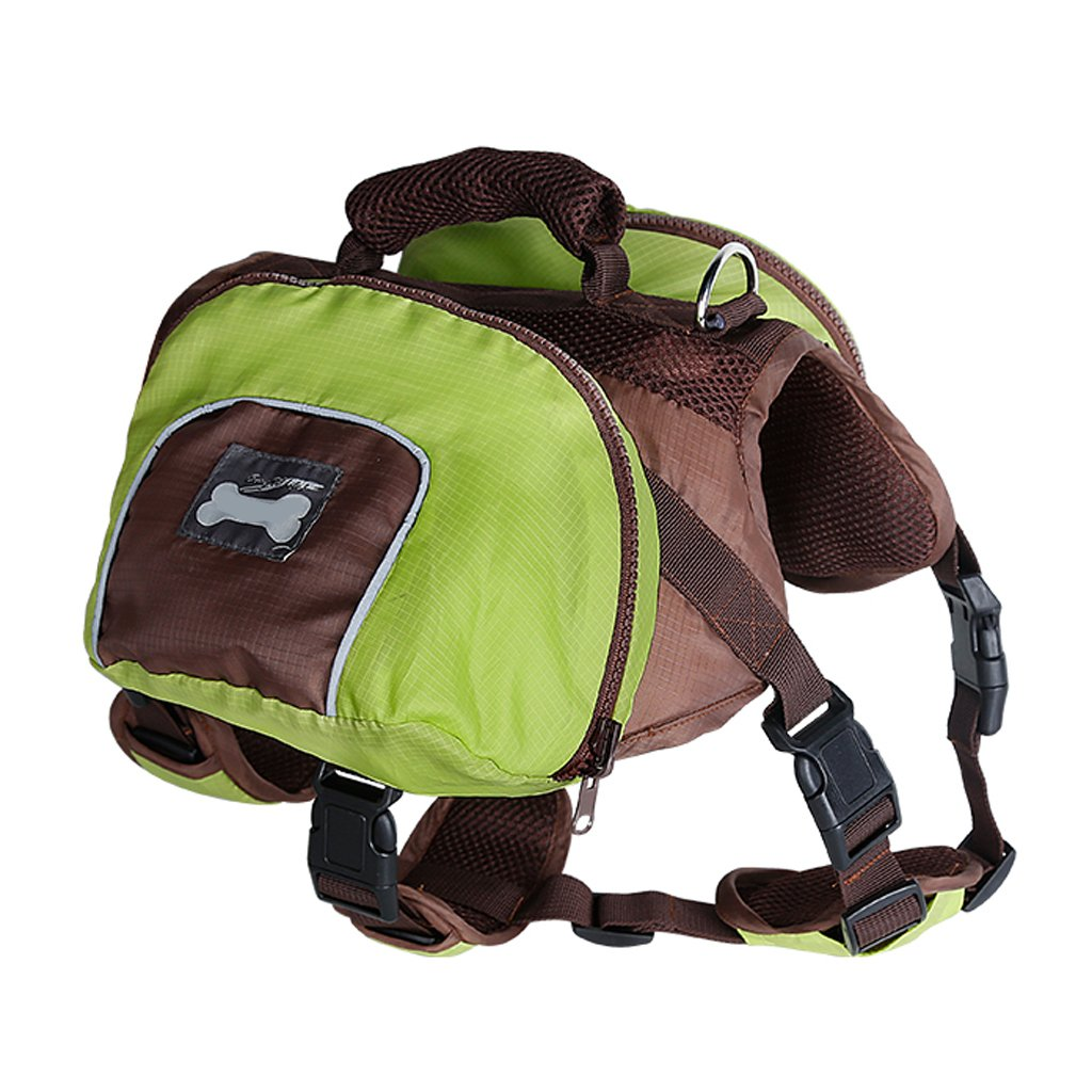 MagiDeal Dog Foldable Backpack Waterproof Portable Travel Outdoor Bag Pack Green XL