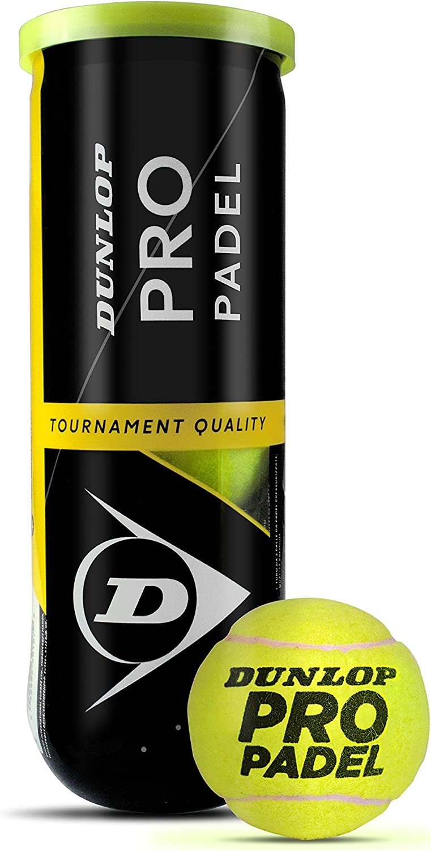 Dunlop TB Pro Padel Pelotas Bote, Adultos Unisex, Amarillo, 3 Uni ...