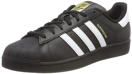 6f0e04bd Adidas Superstar Foundation B27140 Zapatillas para Hombre, Negro, 7.5US,  25.5 MEX