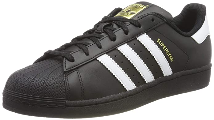 adidas Superstar Foundation Sneaker Unisex-Erwachsene Low-Top Schwarz