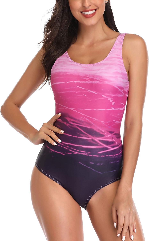 Jimilaka Women's One Piece Athletic Training Swimsuits Swimwear Bathing Suit: Clothing